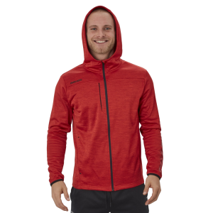 Mikina Vapor Fleece Zip Hoodie Red