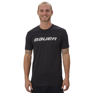 Tričko Bauer Graphic SS Crew Black